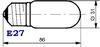 Лампа Ц125-135-15 цоколь Е27