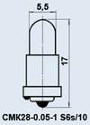 Лампа СМК28-0.05-1